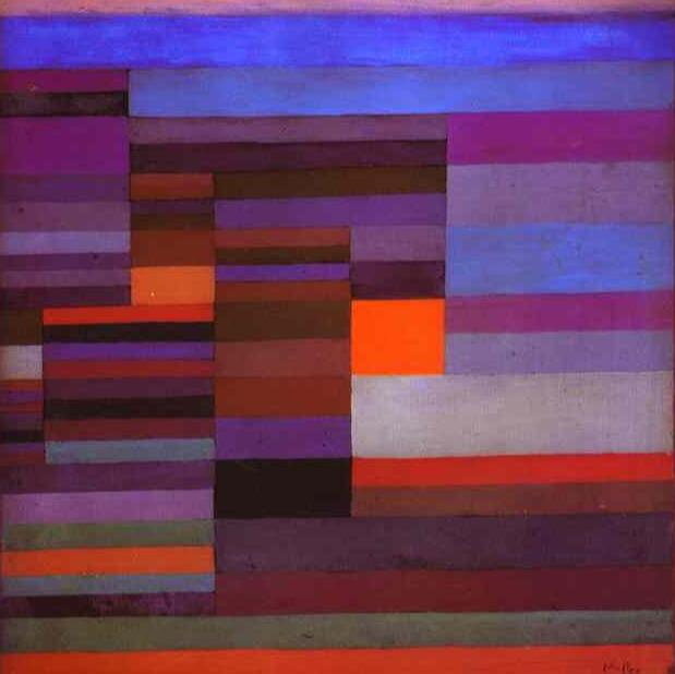 High quality Oil painting Canvas Reproductions Fire evening (1929)  by Paul Klee Painting hand paintedHigh quality Oil painting Canvas Reproductions Fire evening (1929)  by Paul Klee Painting hand painted