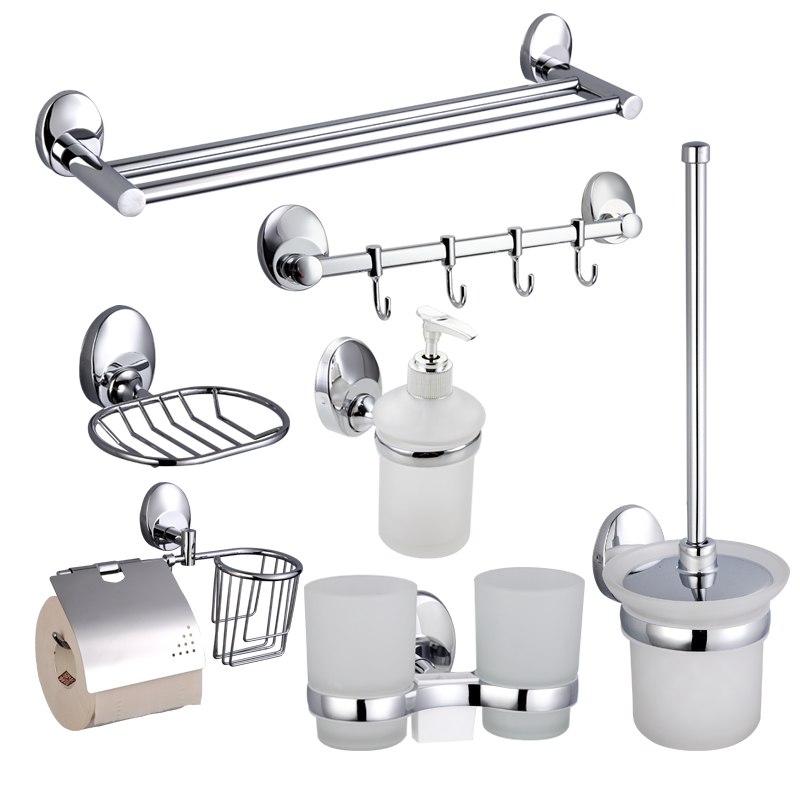 Frap 7pcs towel rack bars soap dishes Double Toothbrush cup holder Liquid Soap Dispenser Toilet Brush Holder paper holder F16T7 frap antique bronze cover toilet paper towel holder cup holder toilet brush space aluminium mounting seat 3 pieces f14t3