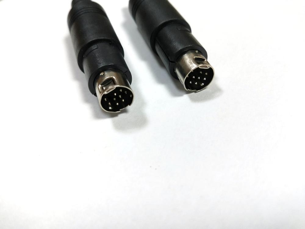 6Pin Mini DIN Male Plug Cable Connector AV Audio Video Adapter w// Plastic Handle