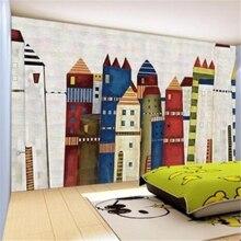 Фотография beibehang Custom Photo Wallpaper Mural Rose 3D Kids Room Wallpaper Mural Colorful Castle papel de parede 3d wallpaper behang