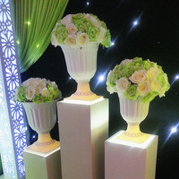 White Europe Style Wedding Flower Pot For Roman Column Plastic Flower Pot For Wedding Decoration 8pcs