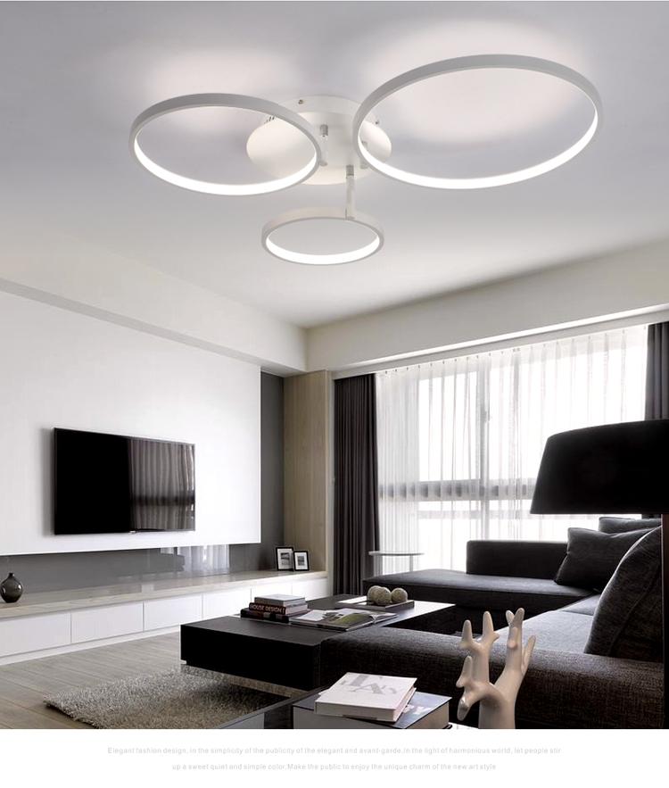 Neue Ankunft Kreis Ringe Designer Moderne Fhrte Deckenleuchten Lampe Fr Wohnzimmer Schlafzimmer Fernbedienung Deckenleuchte Leuchten