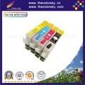 (RCE1291) многоразового пополнения чернильный картридж для Epson T1291 T1292 T1293 T1294 Stylus SX230 SX235W SX420W KCMY бесплатная доставка