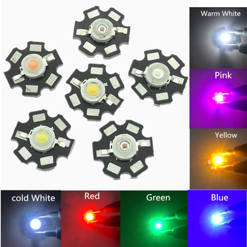 10Pcs 3W High Power Chip white Red Blue Green light Bead Emitter LED Bulb Diodes Lamp Beads with 20mm Star PCB Platine Heatsink 50pcs 1w 3w high power white warm white red green blue royal blue 660nm led with 20mm star pcb