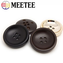 High-grade coffee factory spot black nylon four eyes pale gold button suit coat jacket buttons