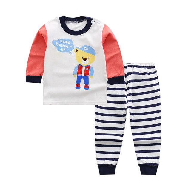 Coole Kinderkleding.2019 Kinderkleding Sets Baby Cool Jongens Pyjama Pak Cartoon