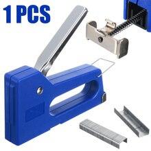 1 шт мини штапельного степлера для ногтей степлинг машина набор