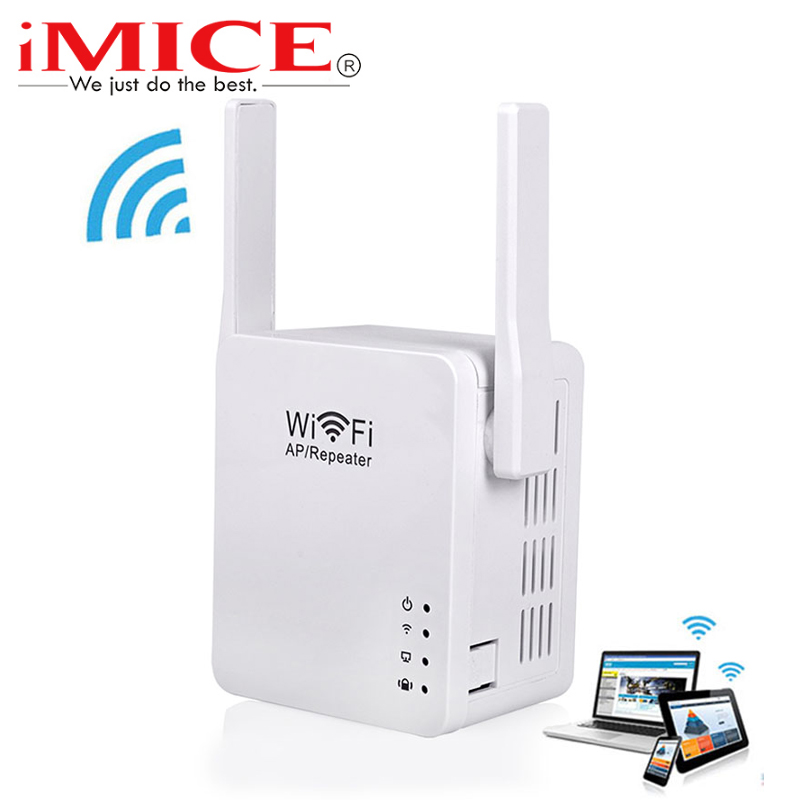 iMice 300Mbps Wireless Wifi Repeater + USB Charge Mini Wifi Signal Amplifier 2.4G Wifi Extender 2dBi Antenna 802.11b/g/n WPS
