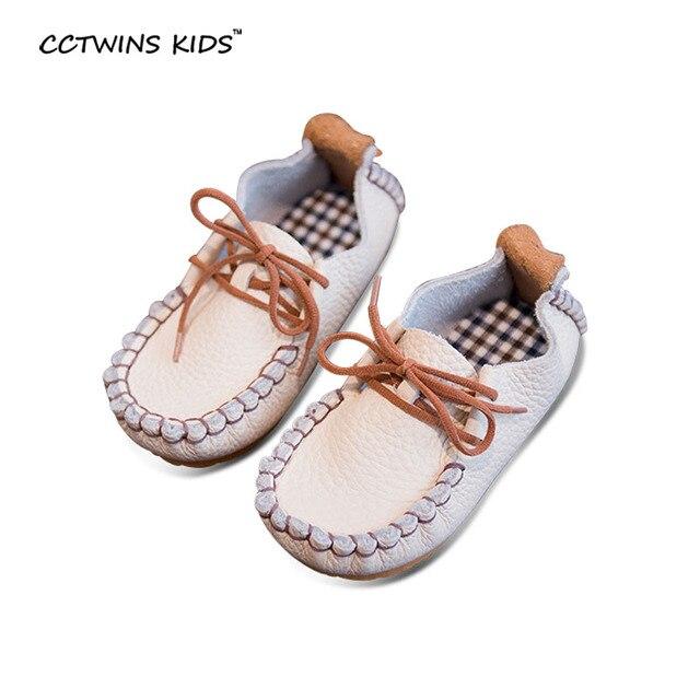 CCTWINS ДЕТИ весна осень мальчик неподдельной кожи лодка обуви для детей мода черный мокасины девочка марка квартиры розовый