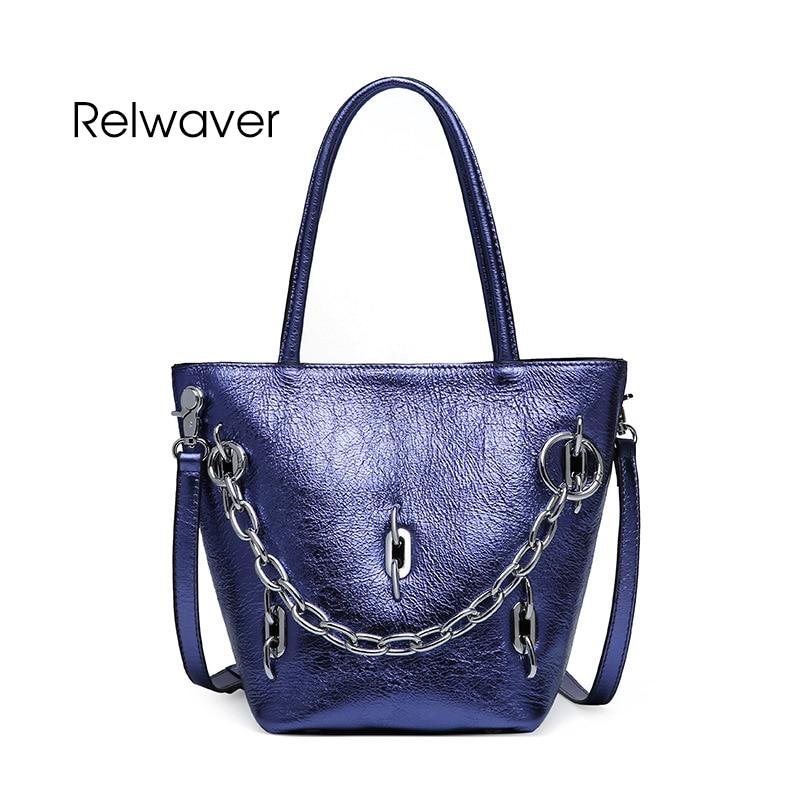 Relwaver genuine leather handbag women shoulder bag pearl cow leather small tote bag fashion stylish bucket crossbody women bag цена