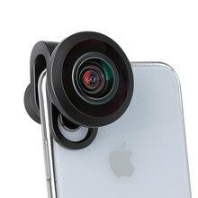 ULANZI lente de cámara de ojo de pez HD de 7,5mm con Clip de lente de 17mm para iPhone, Samsung, Android, HUAWEI, teléfono móvil, ojo de pez