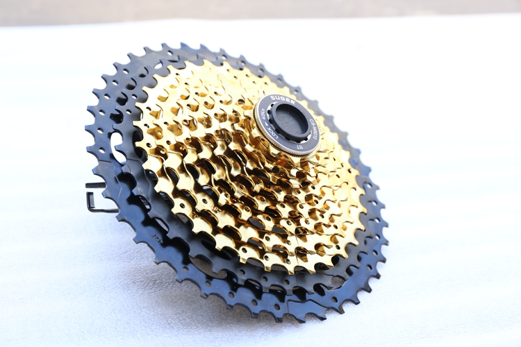 10 Speed Cassette 11-42T gold MTB Cassette 10 Speed Fit for Mountain Bike, Road Bicycle, MTB, BMX, SRAM, Shimano 10 speed cassette 11 42t gold mtb cassette 10 speed fit for mountain bike road bicycle mtb bmx sram shimano