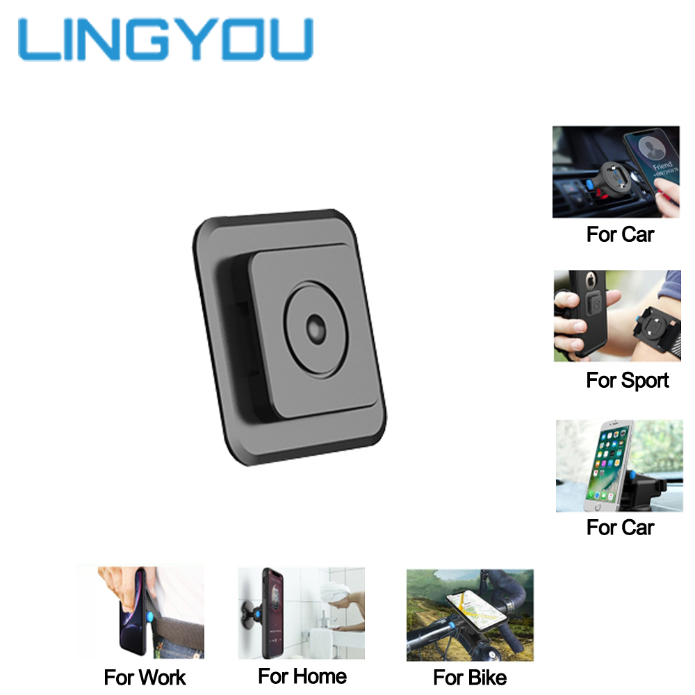 Universal Quick Mount Adapter Multi Purpose Phone Holder For Air-vent/Car/Bike/Belt Clip/Wall/Armband/Wristband Mount