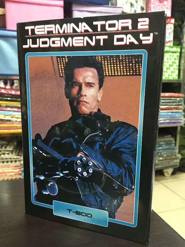 NECA Terminator 2 Judgment Day T-800 Arnold Schwarzenegger PVC Action Figure Collectible Model Toy 7 18cm KT1818 neca the terminator 2 action figure t 800 endoskeleton classic figure toy 718cm 7styles
