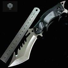 Trskt V1 нож с фиксированным лезвием, G10 ручка нож для охоты и кемпинга выживания Спасательные тактические ножи с нейлоновой оболочкой, толщина 0,5 мм