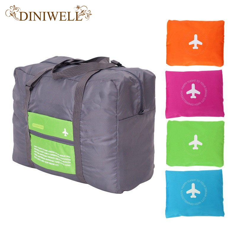 DINIWELL 32L Storkapacitet Bagageförpackning Tote / Shoulder Travel Shopping Storväska Folding Klädförvaring Pouch Organizer