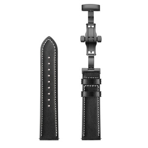 Image 5 - Vlinder sluiting Lederen Band voor Xiaomi Huami Amazfit GTR 47mm 42mm Armband Riem voor Huami Amazfit Bip lite /Stratos 2/Tempo