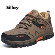 Super Warm Men's Winter Leather Men Waterproof Rubber Snow Boots Leisure Boots England Retro Shoes For Men Big Size
