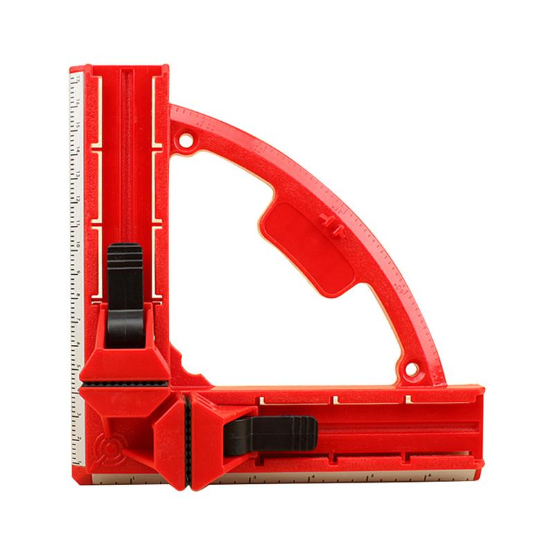 90 Degree Right Angle Clamp Mitre Clamps Corner Clamp Picture Holder Woodwork With Light Weight Integrated Aluminum Rule