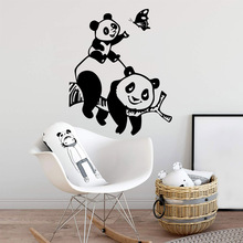 Hot Sale pandas Waterproof Wall Stickers Home Decor Removable Sticker Art Decoration DIY