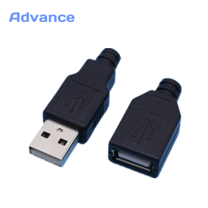 1 Pair USB Connector Male & Female DIY 2.0 Micro Free Shipping Connectors Charging Socket Micro USB Plug Tail Black Plastic Cove плиткорез hammer plr450 flex