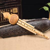 Chinese Handmade Yunnan Bamboo Hulusi 9 Holes Gourd Cucurbit Flute