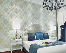 beibehang Simple luxury wallpaper Damascus carved non-woven 3d living room bedroom backdrop restaurant papel de parede