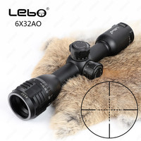 LEBO 6X32 AO Riflescope Hunting Optics Glass Etched Reticle Fully Multi Coated Optical Sights Compact Tactical