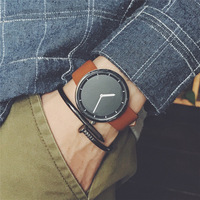 Минималистский стильный для мужчин повседневные часы Прямая доставка 2018, новая мода простой черный BGG бренд мужской наручные подарки