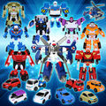 3pcs/lot Anime Tobot Mini Series Deformation Robot Action Figure Mini Robot Model Kit Action Figure Robot Cars 9 styles mixed