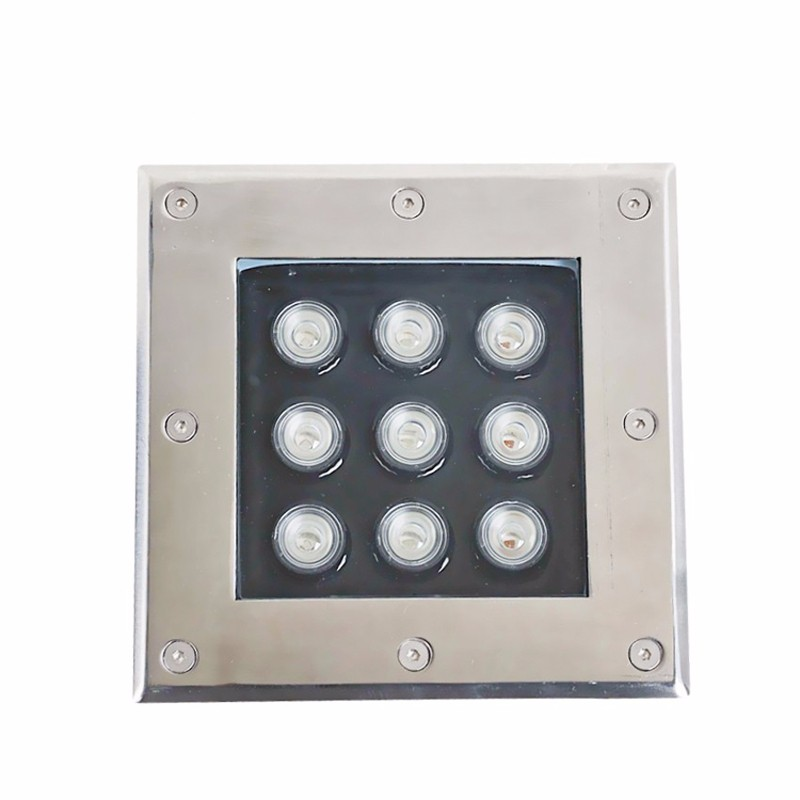 ФОТО 3pcs/lot Square 9W LED Underground Light Square underground lamps ac85-265v or dc12v 100lm/w buried outdoor LED lights