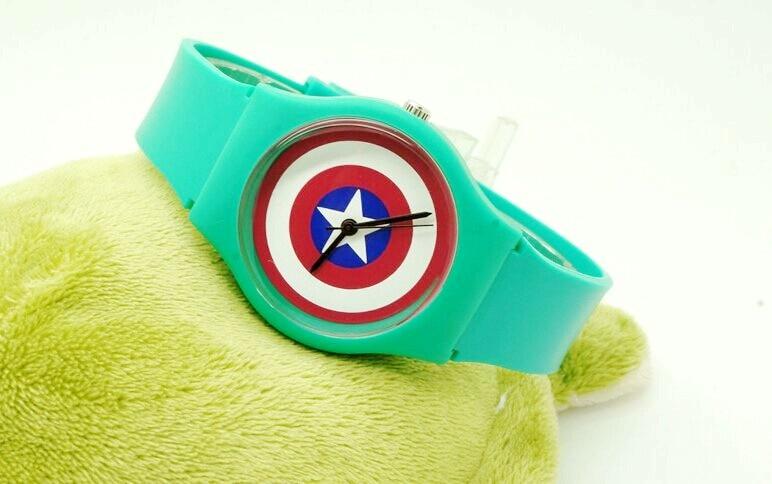 New Willis Captain America Design Fashion women dress Water Resistant Analog Wrist quartz Watch ladies watch free shipping
