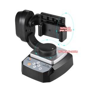 Image 2 - ZIFON YT 500 Uzaktan Kumanda Pan Tilt Otomatik Motorlu Döner Video Tripod Kafası Sabitleyici Smartphone Tripod Kafaları
