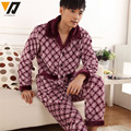 Men Fashion Coral Velvet Pajamas Flannel Suit Soft Thick Mink Cashmere Set Fitted Tracksuit Lounge Set Sleepwear Long