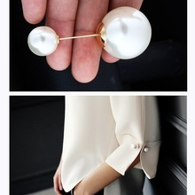 Fixed Clothes Large Double Head Pearl Brooches Pins Cardigan Clip Scarf Shawl Buckle Collar Lapel Pin Brooch for Women Jewelry lotus fun 925 sterling silver brooches for women lotus flower lapel pins men suit scarf collar brooch fine jewelry