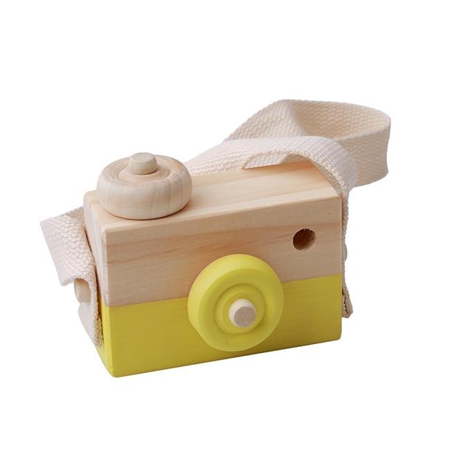 Скандинавский Европейский стиль камера Игрушки для маленьких детей декор комнаты предметы мебели ребенок Рождество День рождения деревянные подарки - Цвет: Yellow