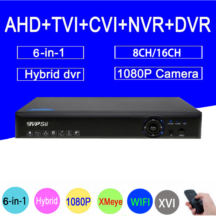 1080 P/960 P/720 P/960 H Caméra de Sécurité Bleu-Ray Hi3521A 1080N 16CH/ 8CH 6 dans 1 WIFI Hybride TVI CVI NVR AHD CCTV DVR Shippin Libre