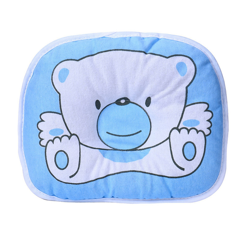 Bear Cartoon Pillow For Newborn Infant Baby Room Decor Sleeping Support Prevent Flat Head Pillow Baby Head Protection Pillows