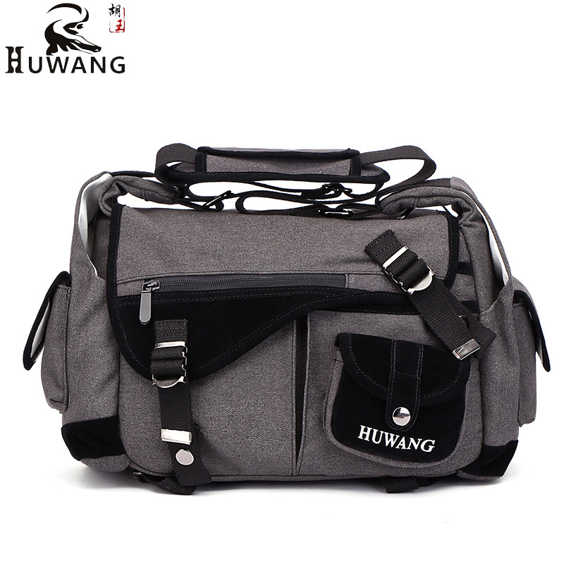 HuWang Fashion Travel Photo Canvas Camera Shoulder Bag Messenger Bag for Nikon Sony Cannon 600d FujiFilm Olympus Panasonic DSLR