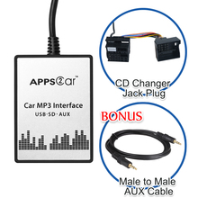 Car MP3 Interface USB SD AUX Digital Music Changer for BMW BMW X5 2001-2006(fits Select OEM Radios)