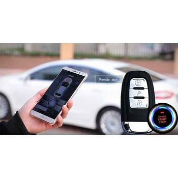 Car alarm central locking with remote control keyless entry system araba alarm Start stop Automatic start remote start alarm