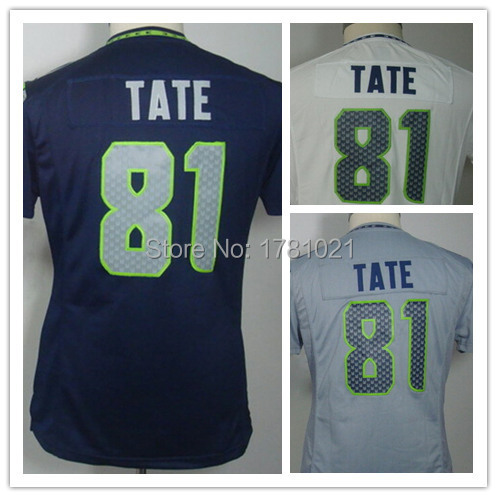 China Cheap Wholesale Best Quality,Authentic Women's Elite American Football Jersey #81 Golden Tate Jersey Embroidery Logo,S-2XL
