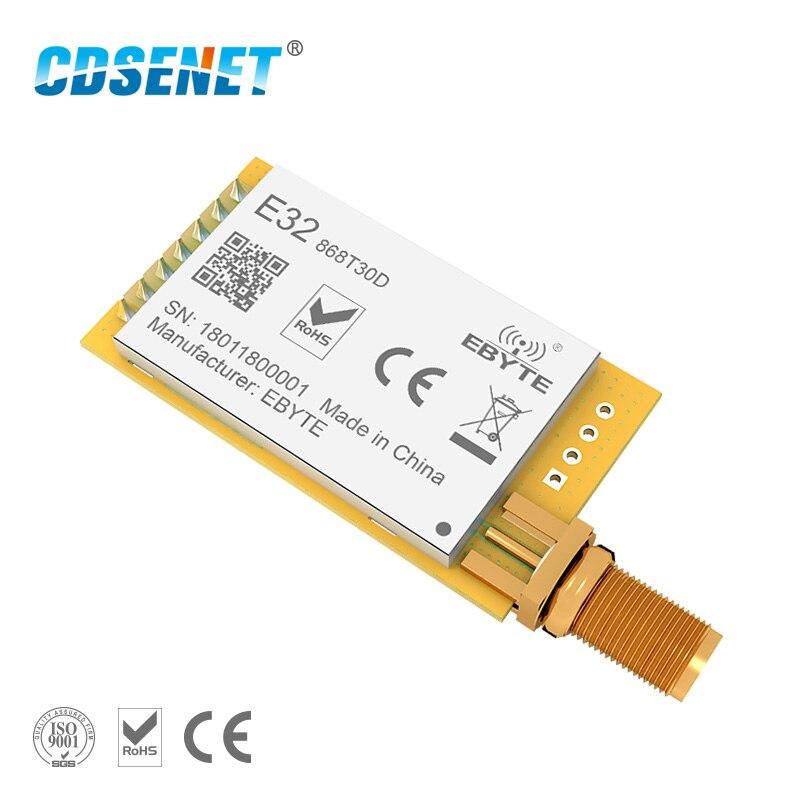 1pc 868 MHz LoRa SX1276 módulo rf de largo alcance E32-868T30D UART 1W mucho transceptor de rf 868 MHz Ebyte transmisor y receptor rf