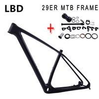2017 bicycle 29er carbon frame MTB carbon frame 29er 27.5er carbon mountain bike frame 650B disc carbon mtb frame 29 free ship