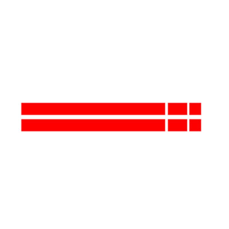 JEAZEA dWm2754536 черный, белый, красный Винил Автомобильный капот в полоску капот наклейка крышка для MINI Cooper R50 R53 R56 R55 - Название цвета: Красный