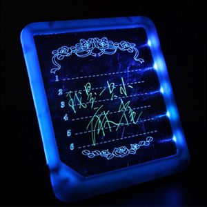Светодиодная доска для рисования, Электронная флуоресцентная доска для рисования, обучающая игрушка-пазл
