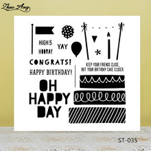 Happy birthday Transparent Silicone Stamp/Seal for DIY Scrapbooking/Photo Album Decorative Card Making Clear Stamps Supplies