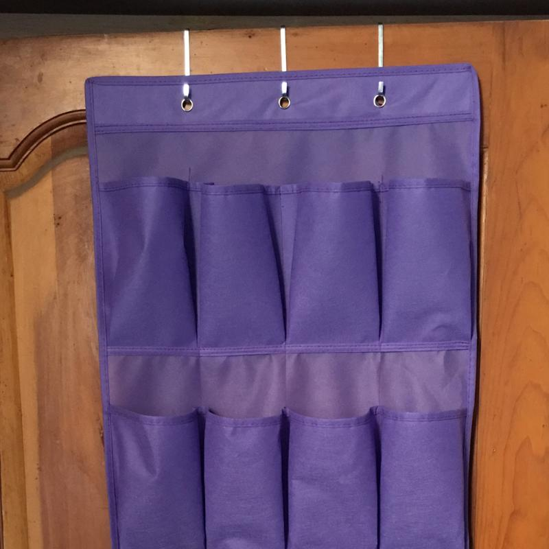 20 Pocket Hanging Shoe Organizers Made with Non Woven Material for Shoe Storage behind the Door 2