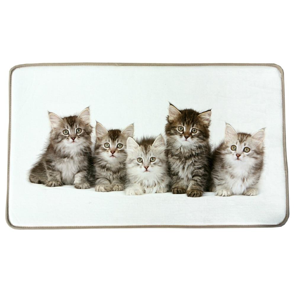45x72cm Cute Small Cat Animal Print Custom Carpet Non slip Rugs Pad ...
