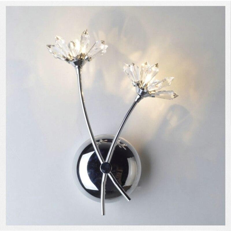 Настенный светильник, светодиодный, с кристаллом